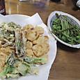 山菜の天ぷら & こごみ