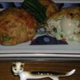 豆腐と豚肉のウズラの卵包み揚げ