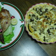 クリスマスメニュー:チキンとキッシュ