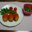 カニクリームコロッケ&トマトスープ